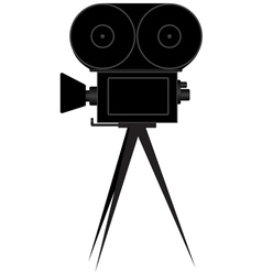 Silhouette of movie camera vector image