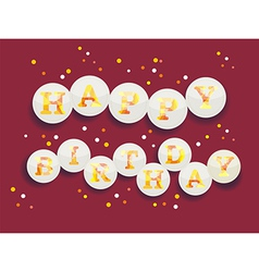 Vintage Birthday Card - EPS10 vector image vector image
