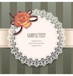 vintage rose round vector image vector image
