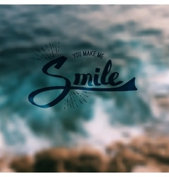 You make me smile vector
