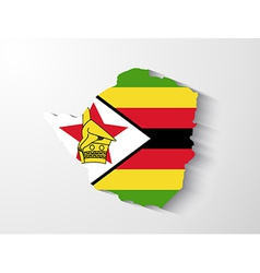 Zimbabwe map with shadow effect vector