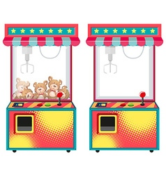 Arcade game machines with dolls vector
