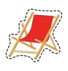 Isolated beach chair design vector
