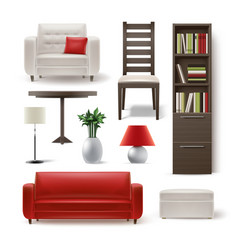 set of house furniture vector image