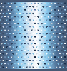 Glowing heart pattern seamless vector