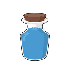 Mana in bottle transparent glass bank with vector