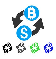 Dollar bitcoin exchange flat icon vector