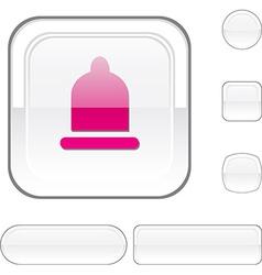 Condom white button vector