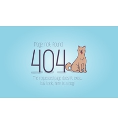 404 error page not found cartoon design vector