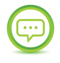 Green talk icon vector