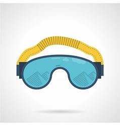 Climbing goggles color icon vector