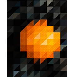 Orange and black triangles background vector