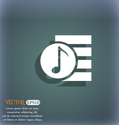 Audio mp3 file icon sign on the blue-green vector