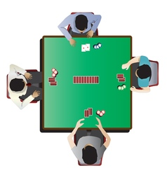 Casino furniture  poker table top view set 7 vector