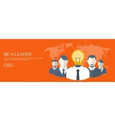 Be a leader ideas generating creativity and vector