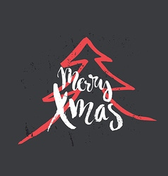 Christmas lettering vector