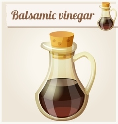 Balsamic vinegar detailed icon vector