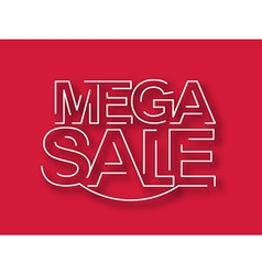 Mega sale text design element vector