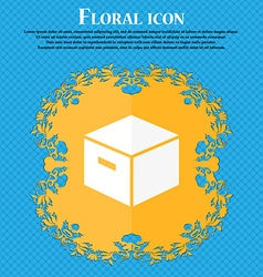 Packaging cardboard box icon floral flat design on vector