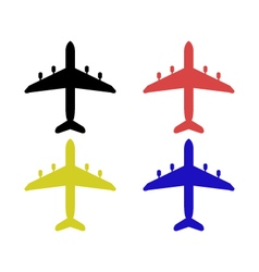 Airplane on a white background vector