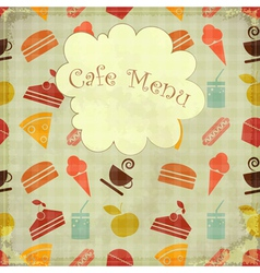 cafe card retro menu vector image