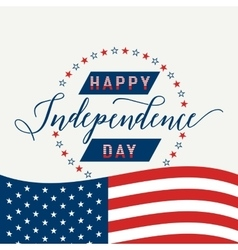 Happy independence day united states july 4th vector