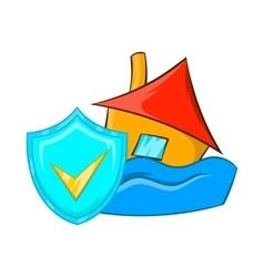 Flood insurance icon cartoon style vector image