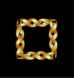 Abstract gold frame or design element vector image