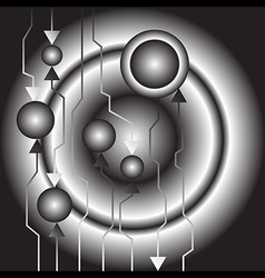 Abstract technology background greyscale vector