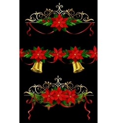 Christmas set elements for your designs vector