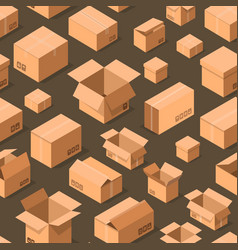 Delivery packaging boxes seamless pattern vector