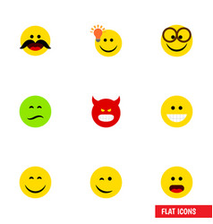 Flat icon gesture set of wonder cheerful have an vector