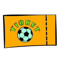 Football ticket icon icon cartoon vector