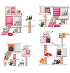 four designs of cathome vector image