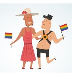 Homosexual gay people couple vector