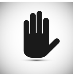 Icon black hand on a white background vector