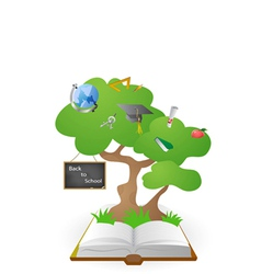 knowledge tree from book vector image vector image