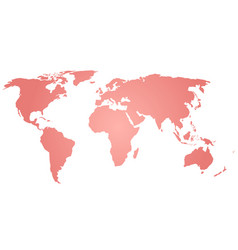 Map of world pink silhouette vector