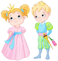Prince and Princess vector image vector image
