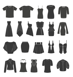 Set of women s and men s clothing vector image vector image