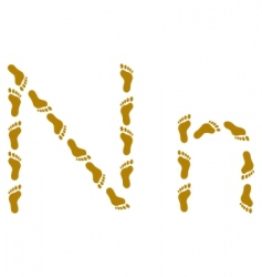 Traces letter n vector