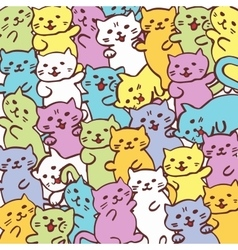 High quality of cat funny cat pattern vector