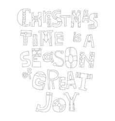 Black and white christmas greetings for coloring vector