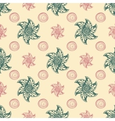 Sea seamless pattern blue background vector