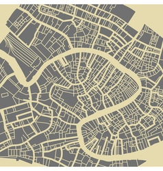 Venice city plan vector