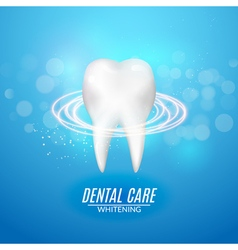 Dental care poster design tooth icon clean healthy vector