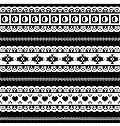 Seamless tribal pattern aztec black and white vector image