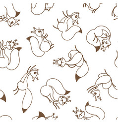 Little cute squirrels seamless pattern for gift vector