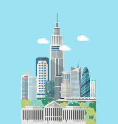 Smart city skyline vector