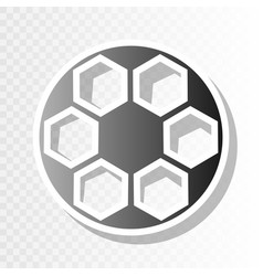 soccer ball sign new year blackish icon vector image